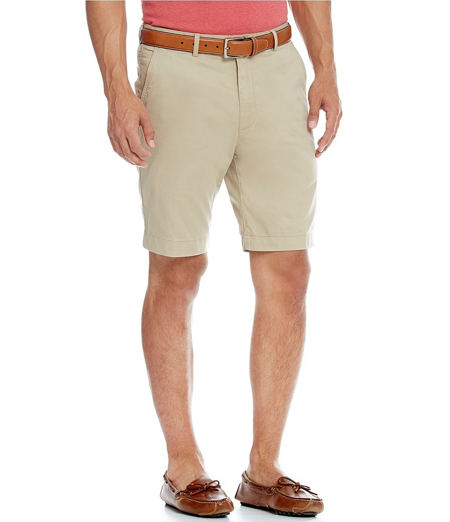 Cremieux Flat-Front Solid Media Shorts