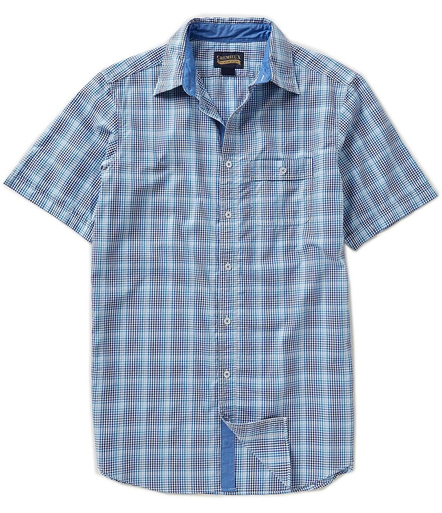 Cremieux Jeans Short-Sleeve Plaid Woven Shirt