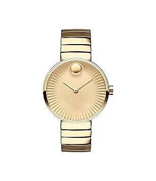 Movado Bold Edge Gold-Tone Stainless Steel Watch