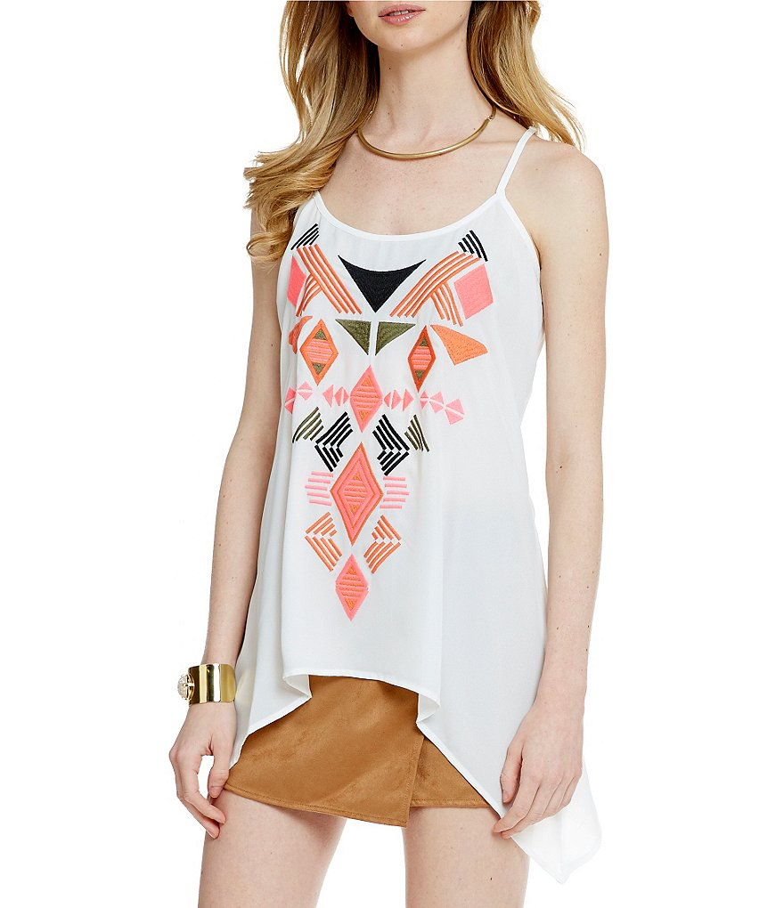 Takara Embroidery Printed Tank Top