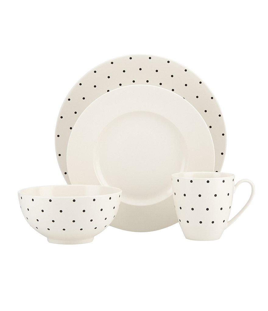 kate spade new york Larabee Road Dotted Stoneware 4-Piece Place Setting