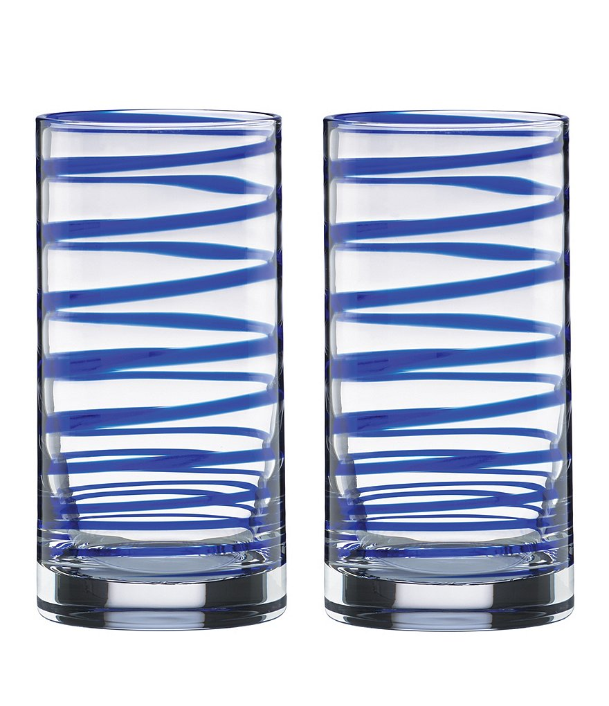 kate spade new york Charlotte Street Spiral Highball Glass Pair