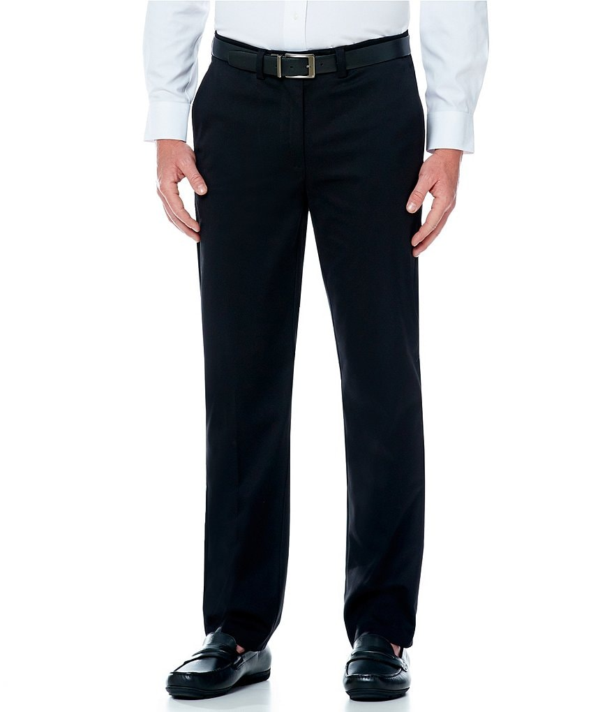 Roundtree & Yorke Straight-Fit Flat-Front Stretch Chino Pants