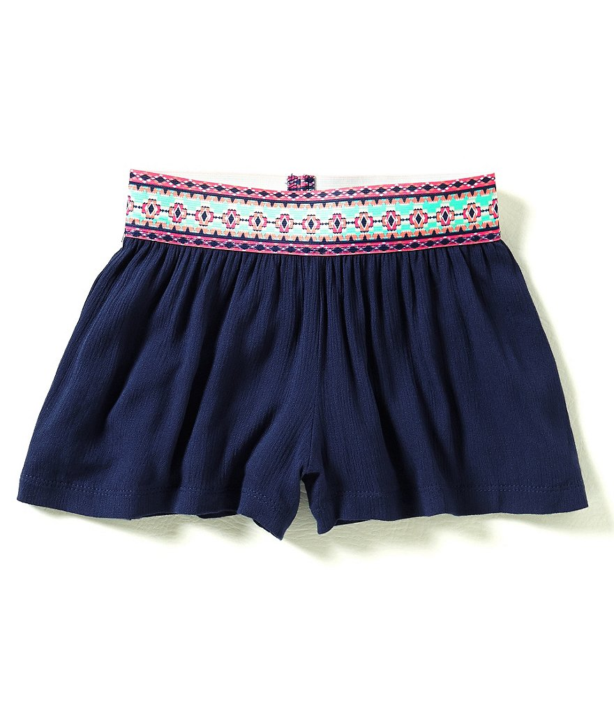 Takara Big Girls 7-16 Gauze Banded Shorts