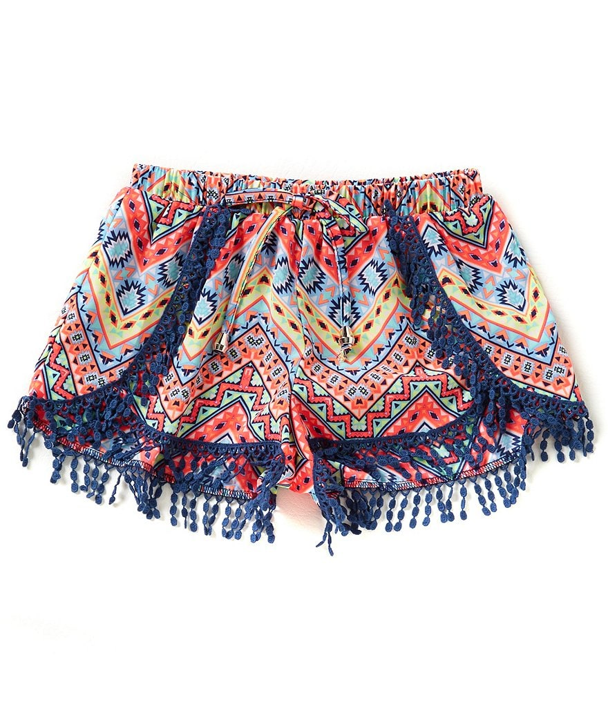 Takara Big Girls 7-16 Printed Tulip-Hem Shorts