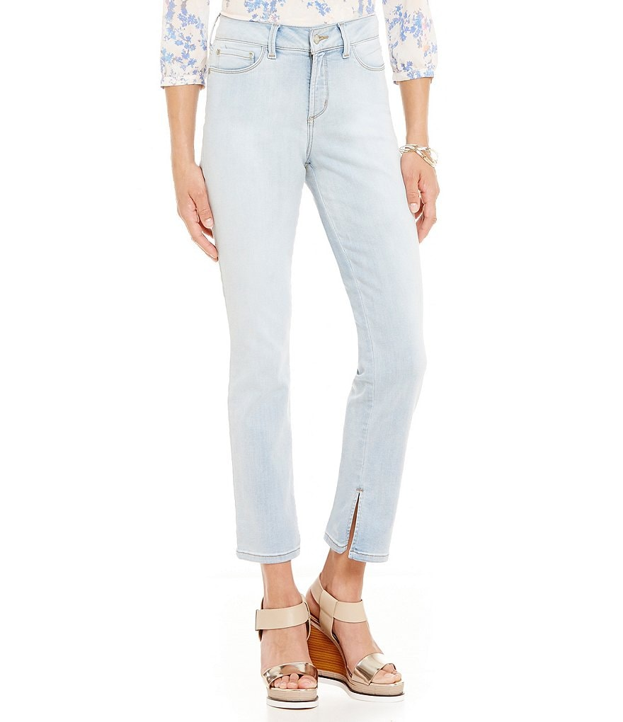 NYDJ Ira Relaxed Slit Hem Ankle Jeans