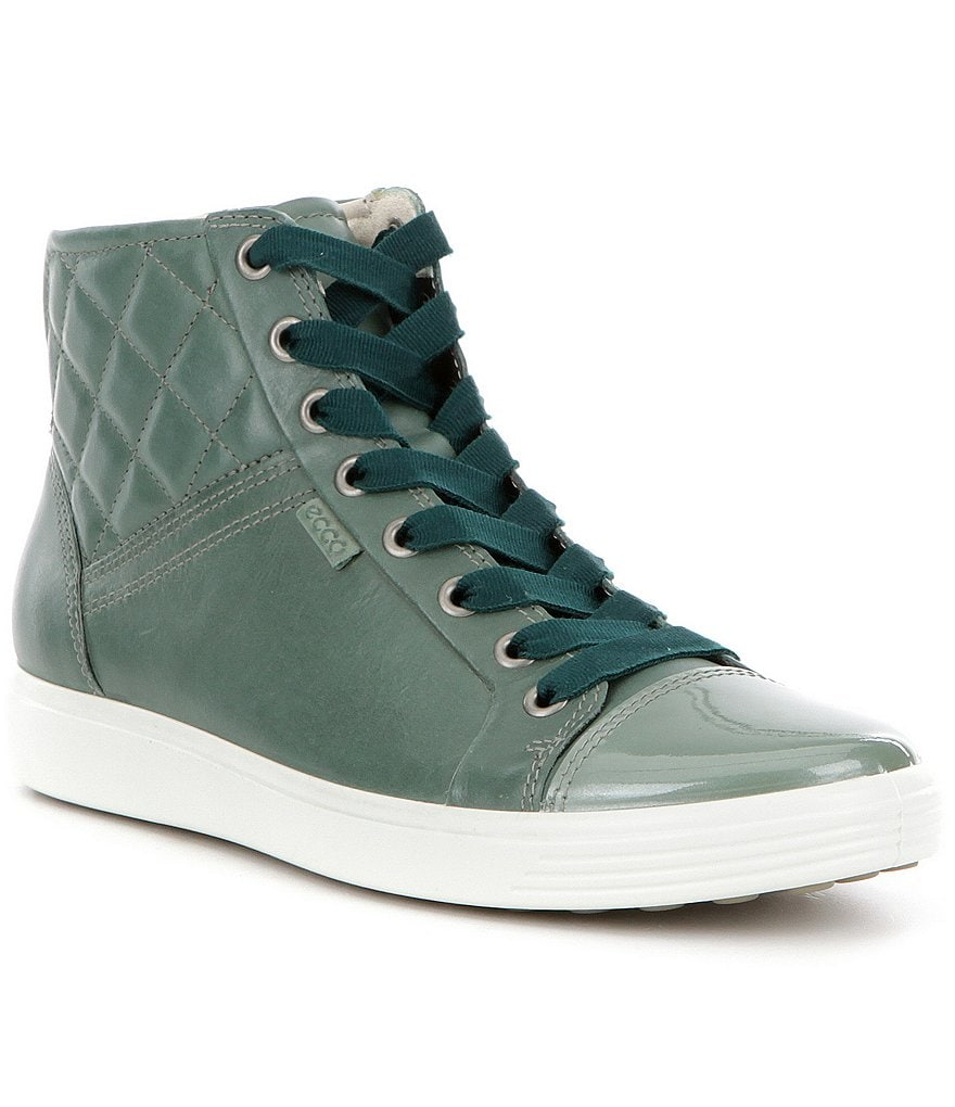 ECCO Women´s Soft 7 Quilted Leather High Top Sneakers