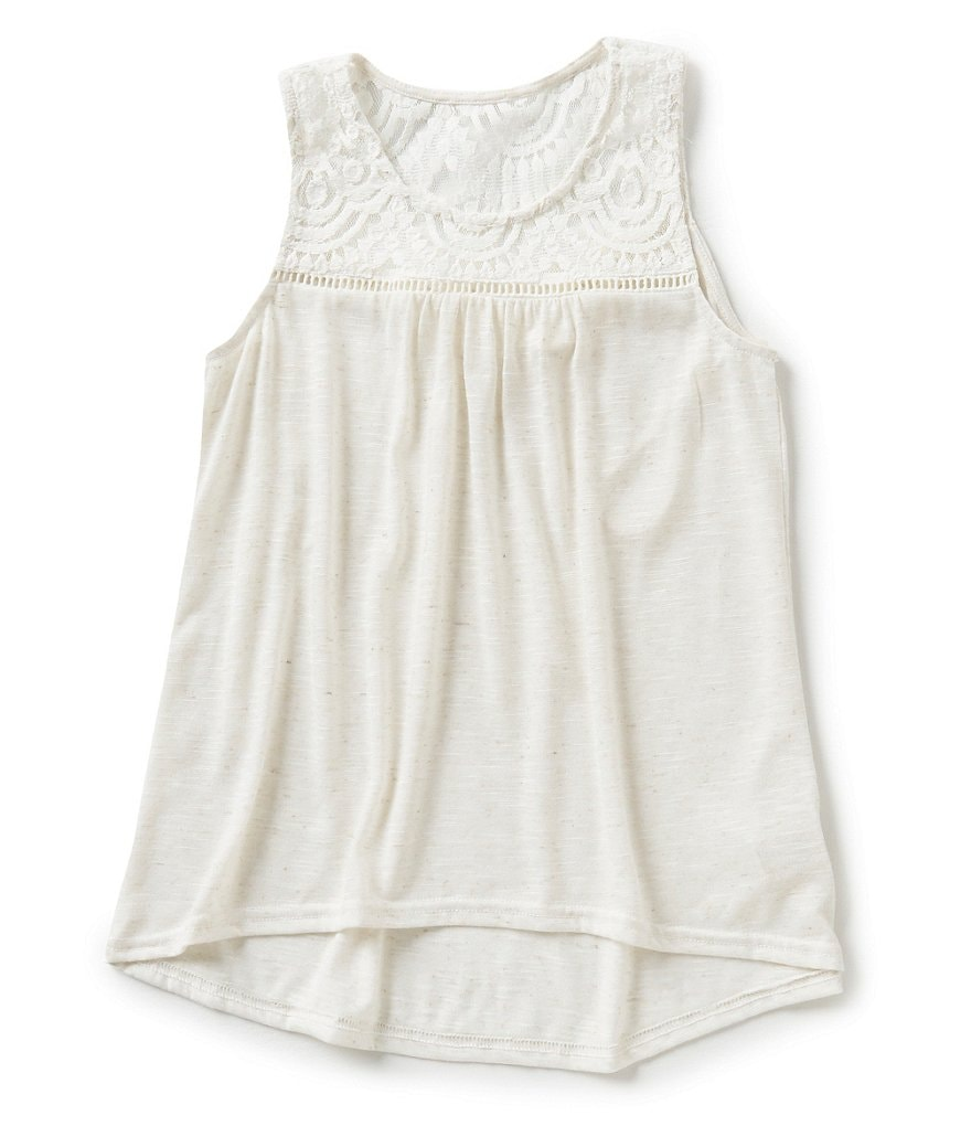 Blu Pepper Big Girls 7-16 Lace Back Tank