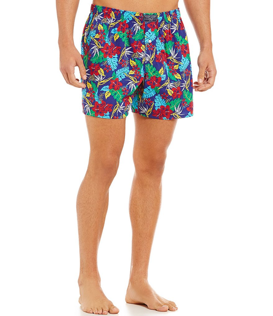Polo Ralph Lauren Classic Woven Tropical Floral-Print Boxers