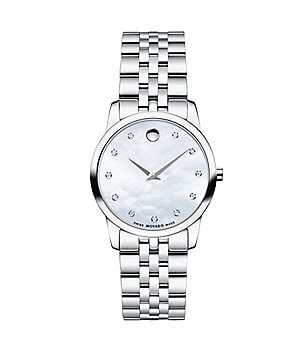 Movado Museum Classic Mother-of-Pearl & Diamond Bracelet Watch