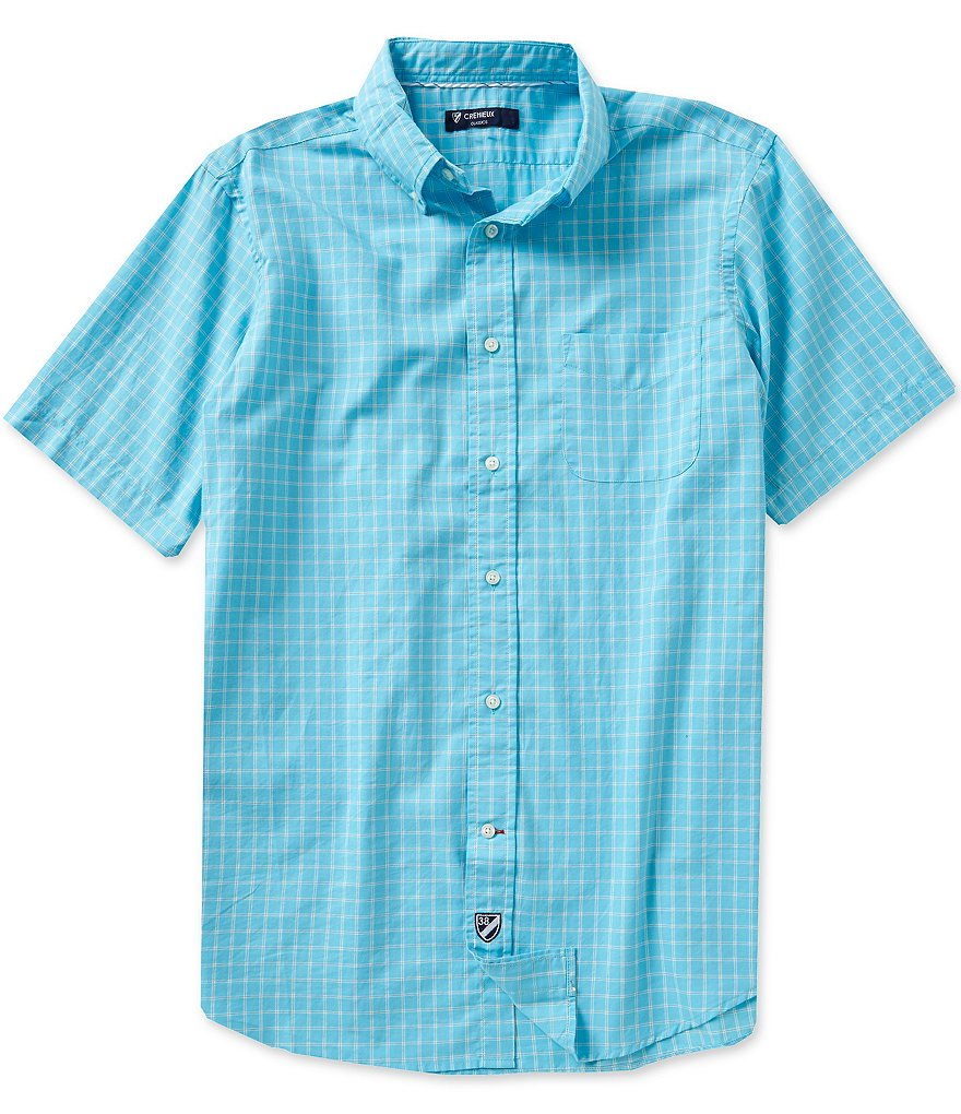 Cremieux Short-Sleeve Graph Oxford Shirt
