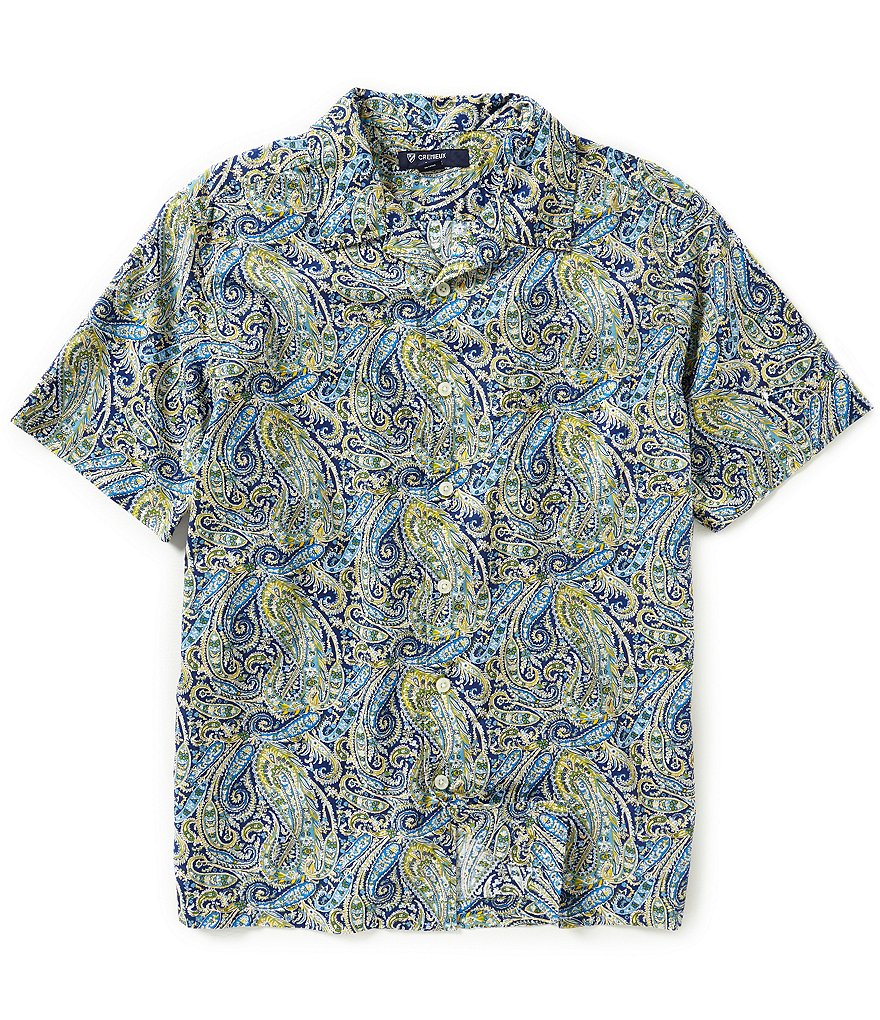 Cremieux Short-Sleeve Printed Camp Woven Shirt