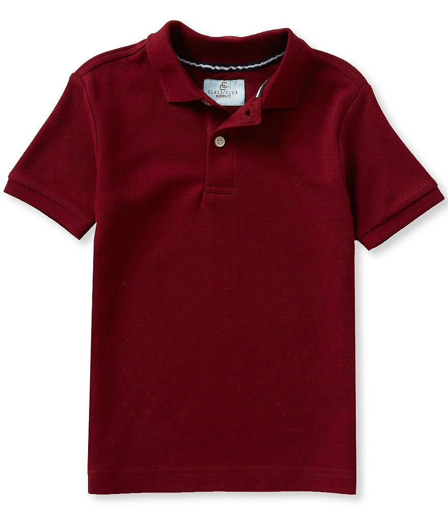 Class Club Little Boys 2T-7 Solid Short-Sleeve Polo