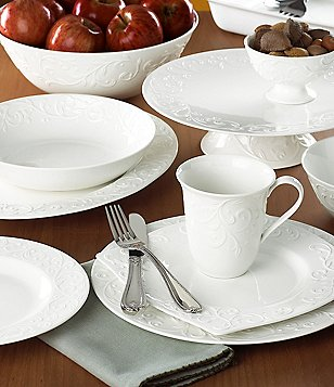 Lenox Opal Innocence Carved Scroll Porcelain Dinnerware