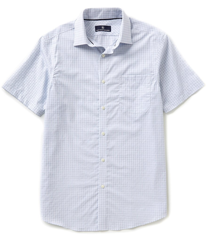 Hart Schaffner Marx Short-Sleeve Check Woven Shirt
