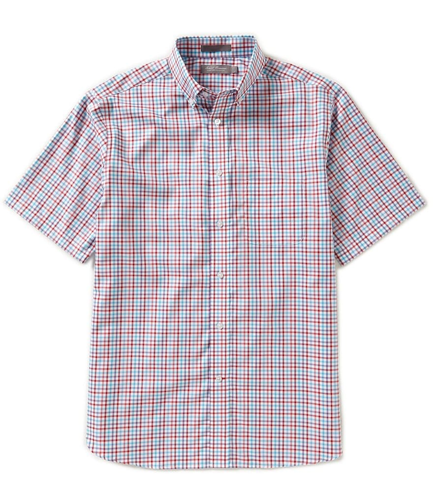Daniel Cremieux Signature Short-Sleeve Small Checked Woven Shirt