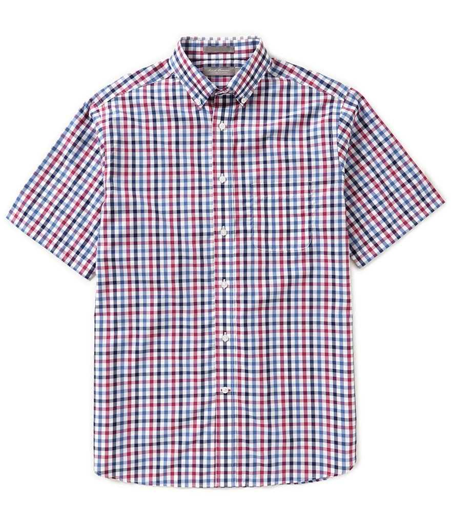 Daniel Cremieux Signature Short-Sleeve Multi-Check Woven Shirt