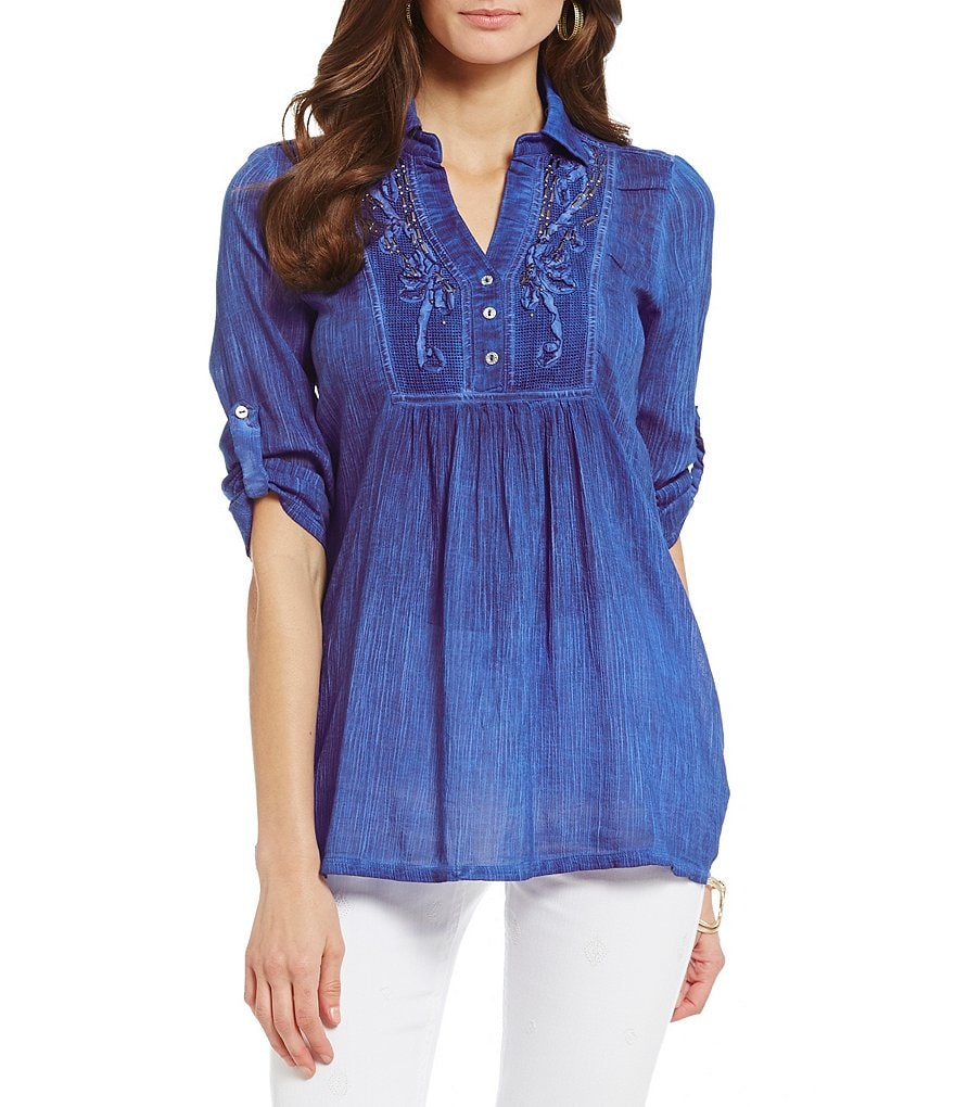 Reba Destiny Soutache V-Neck Tunic