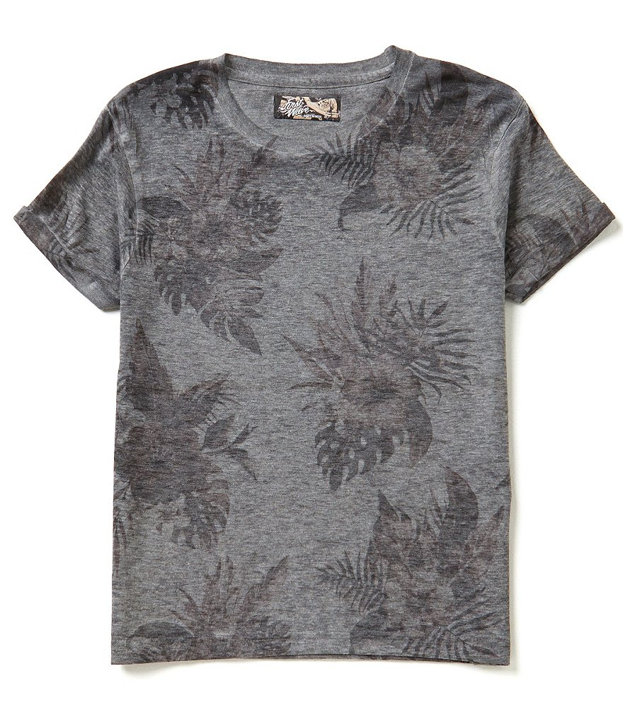 First Wave Big Boys 8-20 Tropical Print Short-Sleeve Tee
