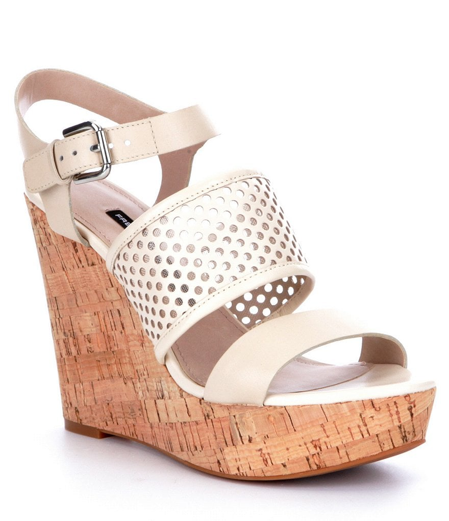 French Connection Devi Perforated Wedges