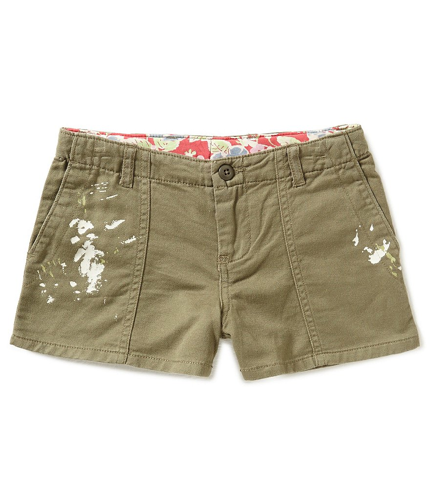Ralph Lauren Childrenswear Little Girls 5-6X Paint-Splatter Shorts