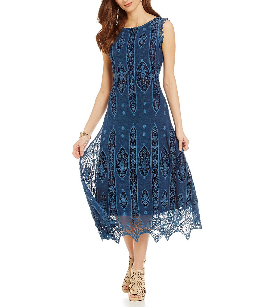 Reba Overprint Lace Dress