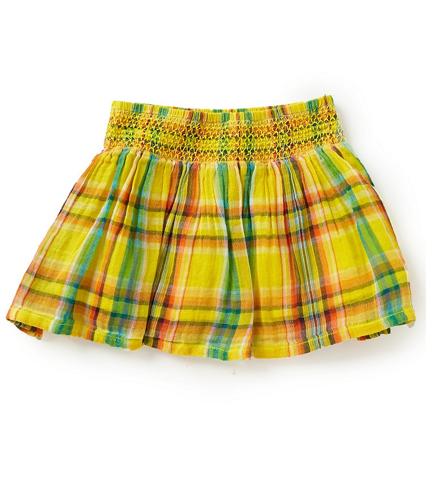 Ralph Lauren Childrenswear Big Girls 7-16 Plaid Shorts