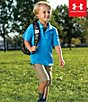 Color:Meridian Blue - Image 2 - Under Armour Little Boys 2T-7 Solid Polo Shirt