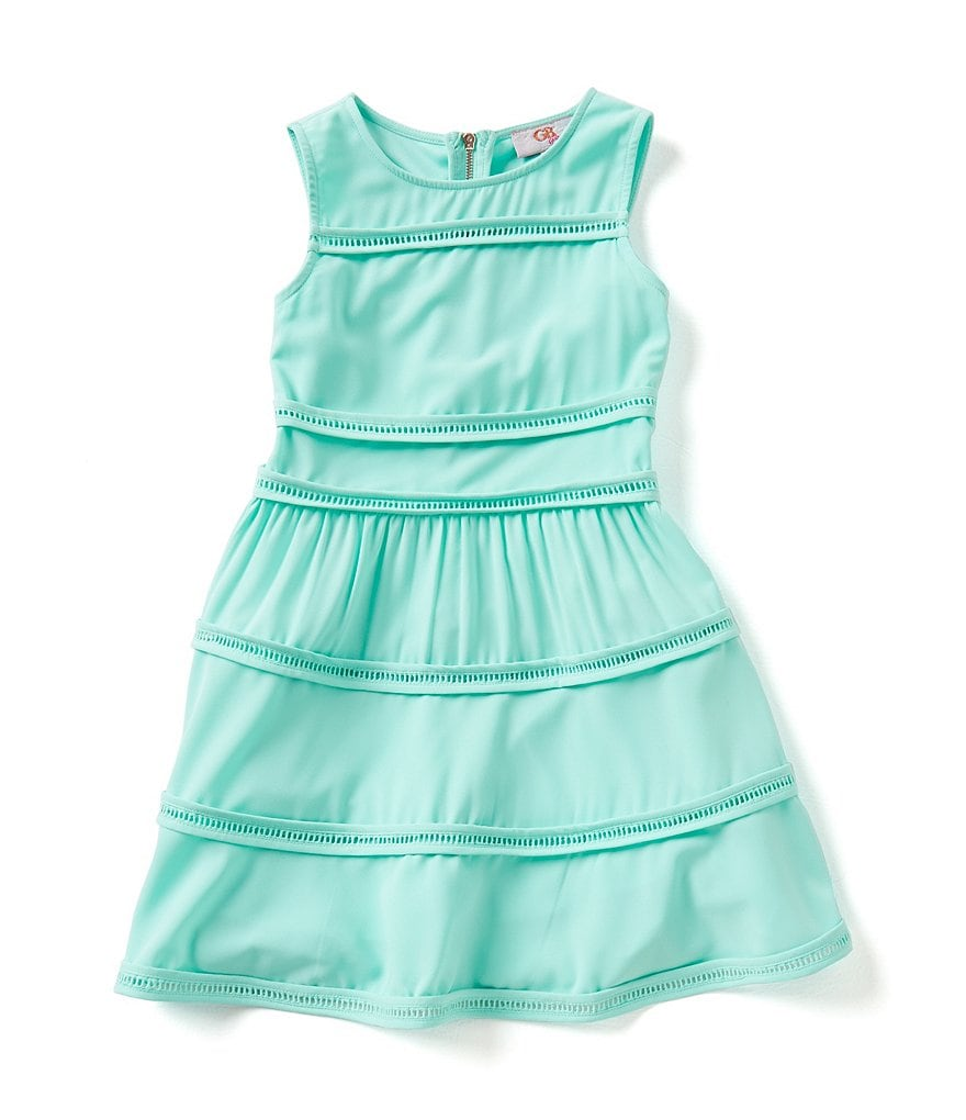 GB Girls Big Girls 7-16 Lattice Trim Dress