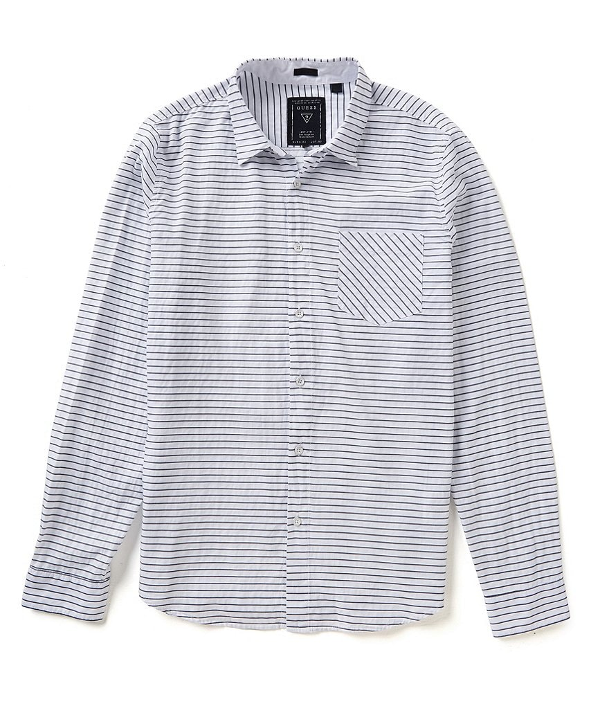 Guess Sean Horizontal Stripe Button-Down Shirt