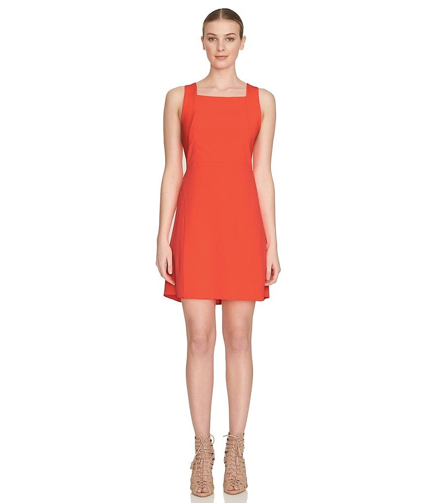 1. STATE Racerback Fit-and-Flare Dress