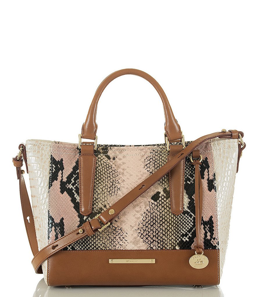 Brahmin Solstice Collection Mini Arno Embossed Tote
