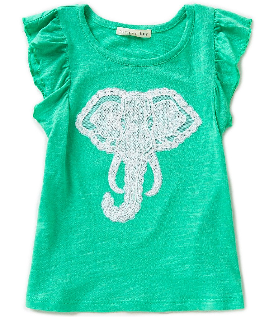 Copper Key Little Girls 2T-6X Elephant Top