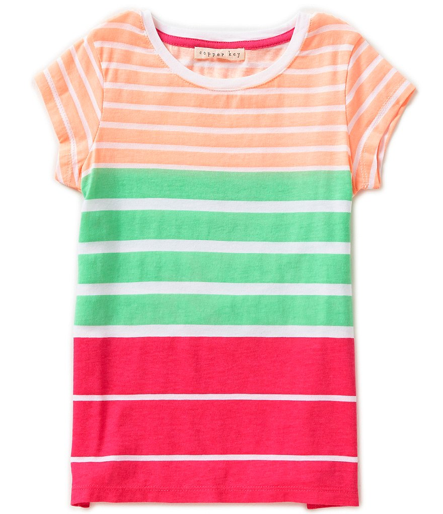 Copper Key Little Girls 2T-6X Striped Tunic