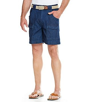 Roundtree & Yorke Cargo Denim Hiker Shorts
