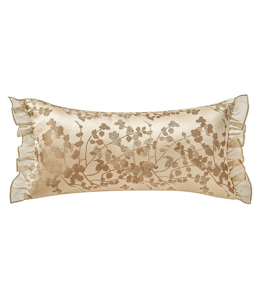 Waterford Copeland Ruffled Leaf & Vine Jacquard Boudoir Pillow