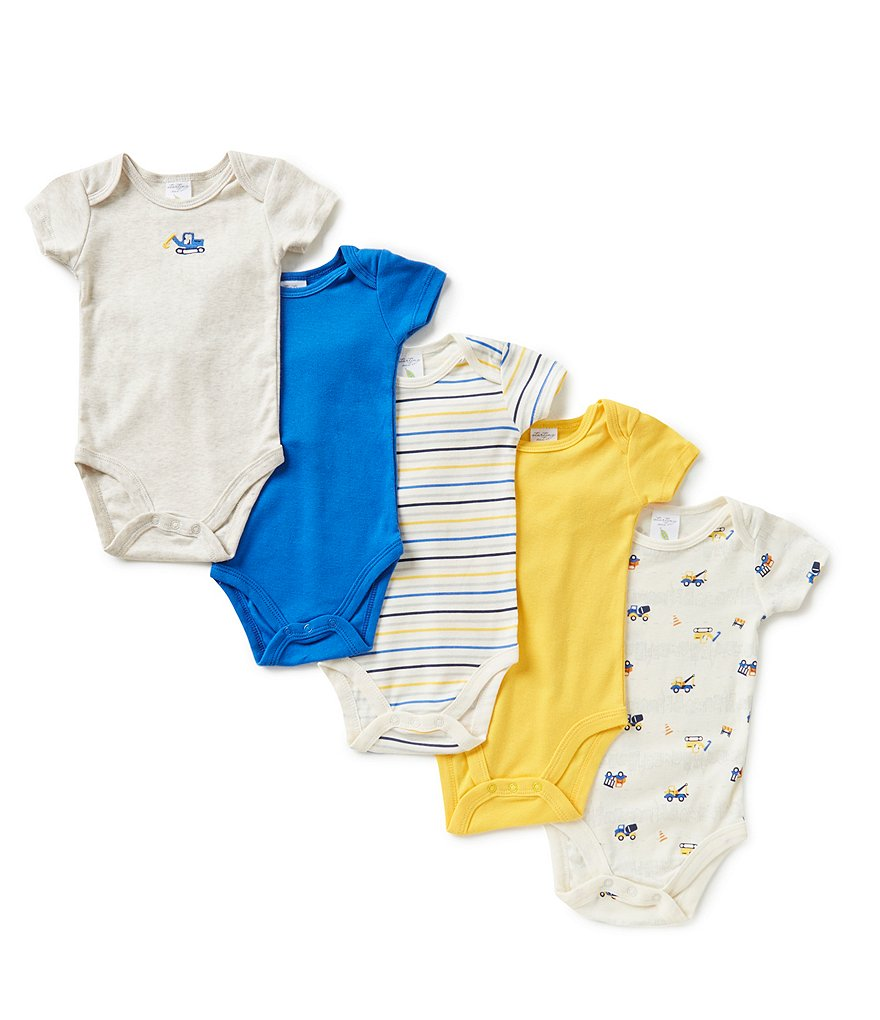 Starting Out Baby Boys Newborn to 6 Months 5-Pack Construction Bodysuits