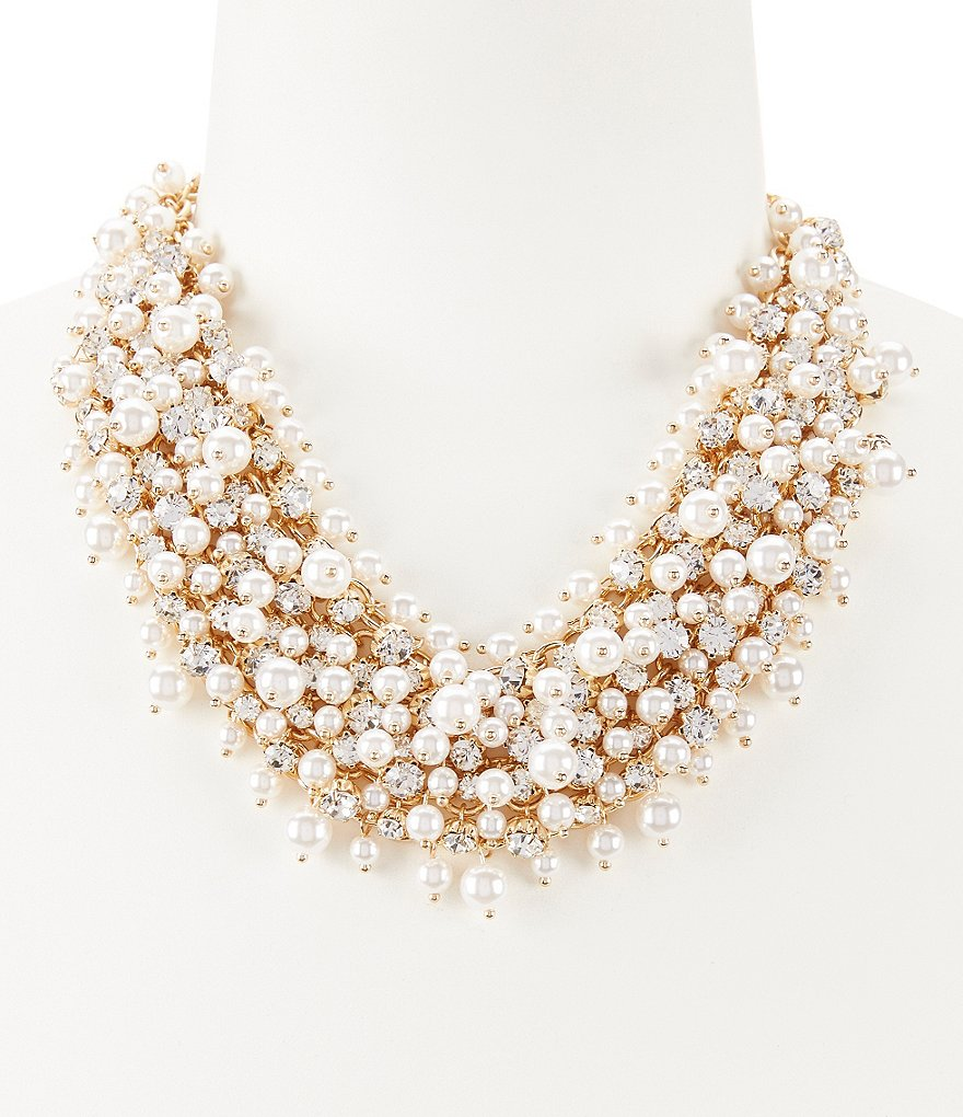 Anna & Ava Pearl & Crystal Multistrand Statement Necklace