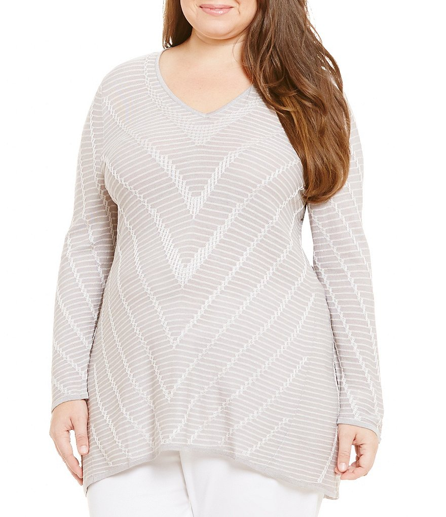ZOZO Plus Maze Printed Long Sleeve Top