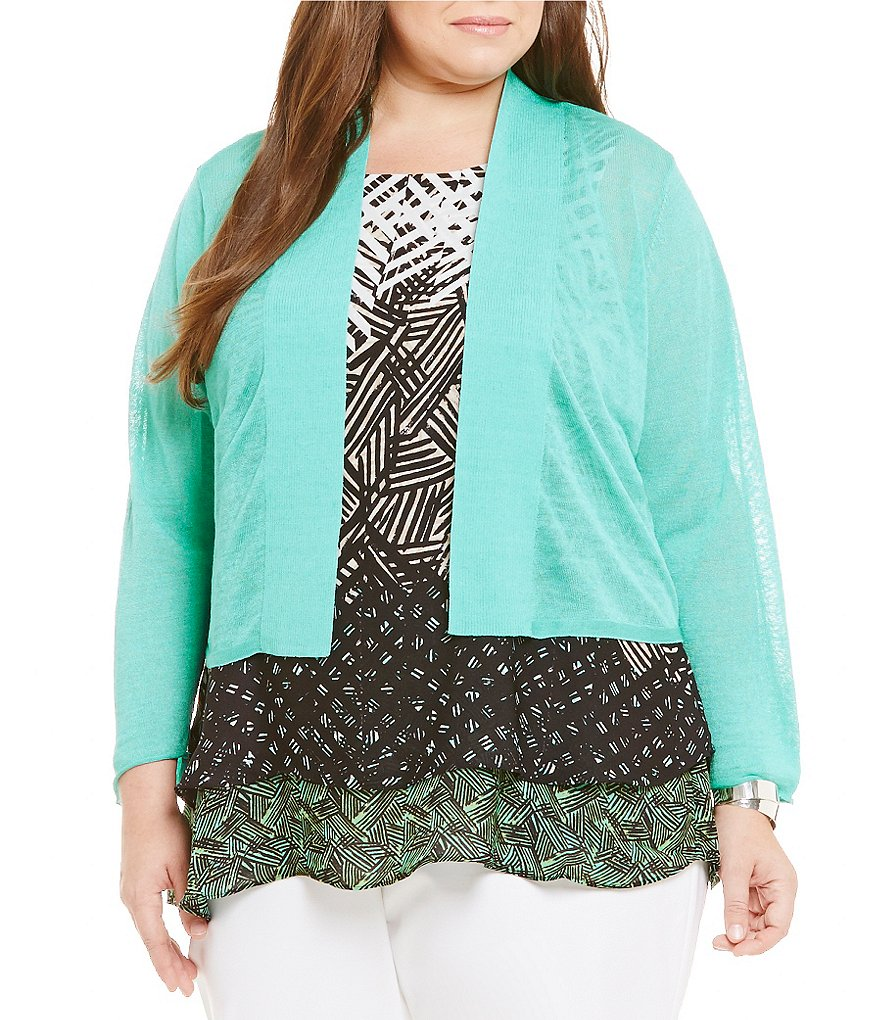 ZOZO Plus Day Awaits Linen Cardigan