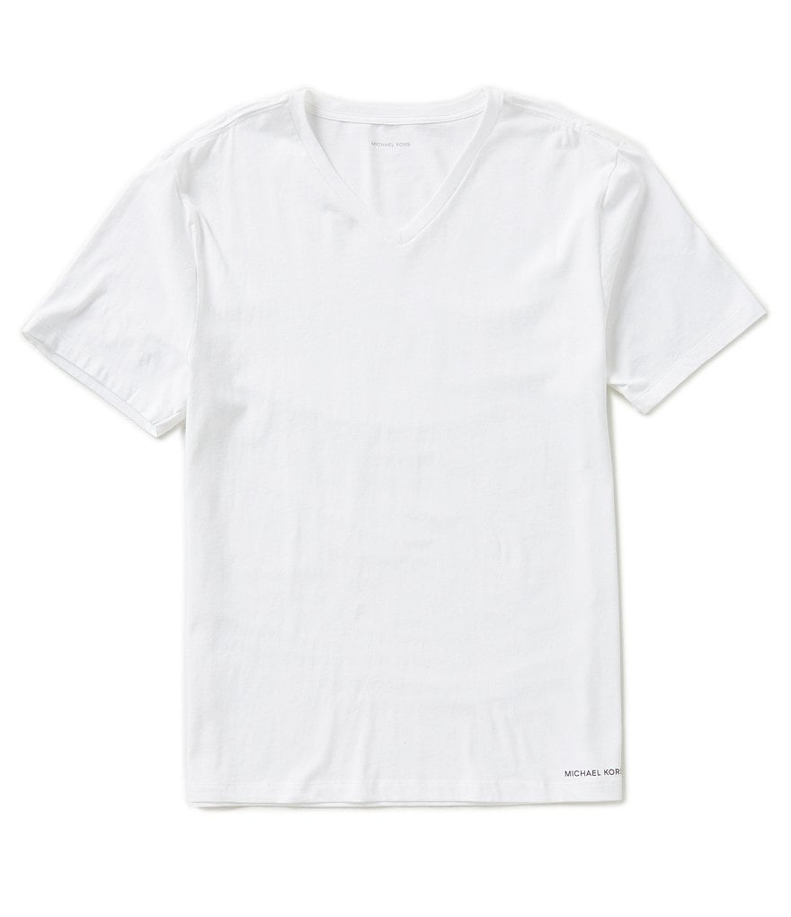 Michael Kors Ultimate Cotton V-Neck Tees 2-Pack