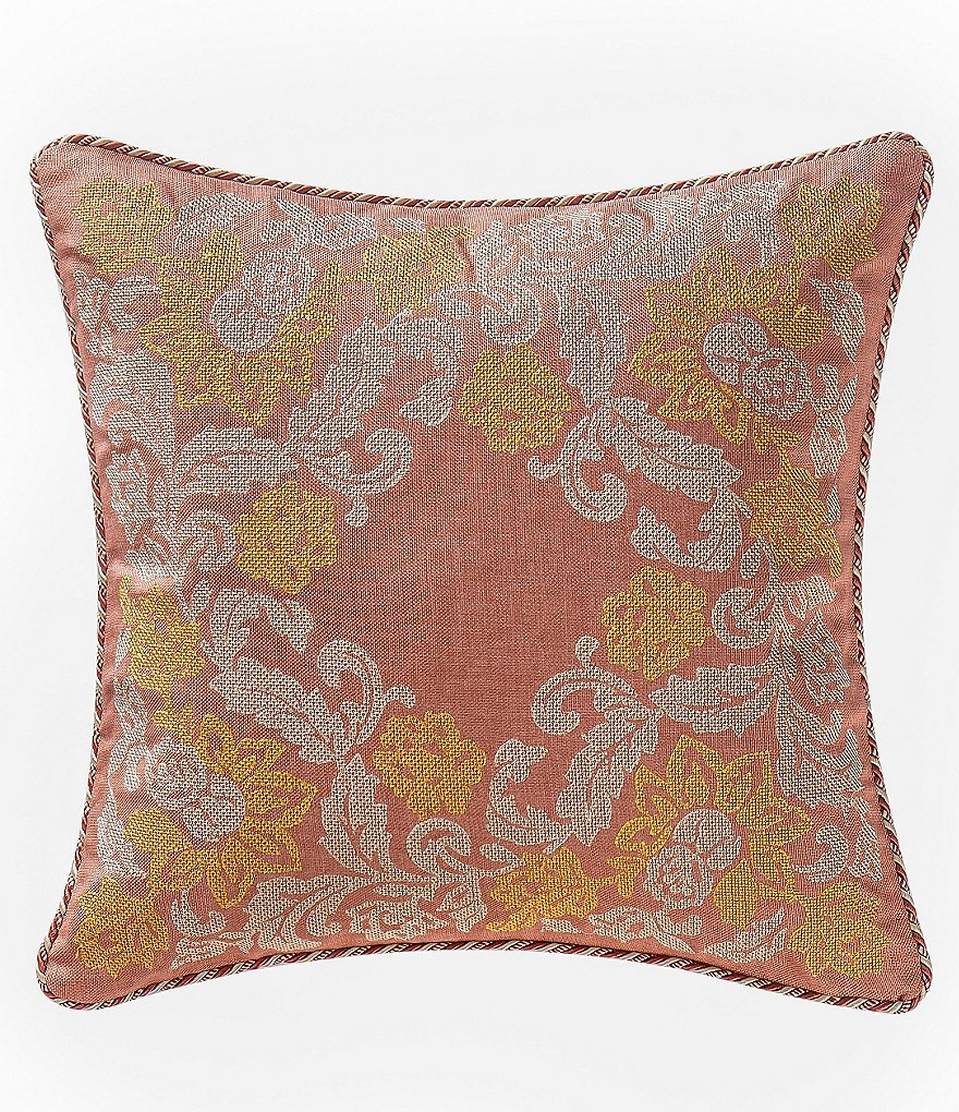 Waterford Cathryn Floral-Embroidered Square Pillow