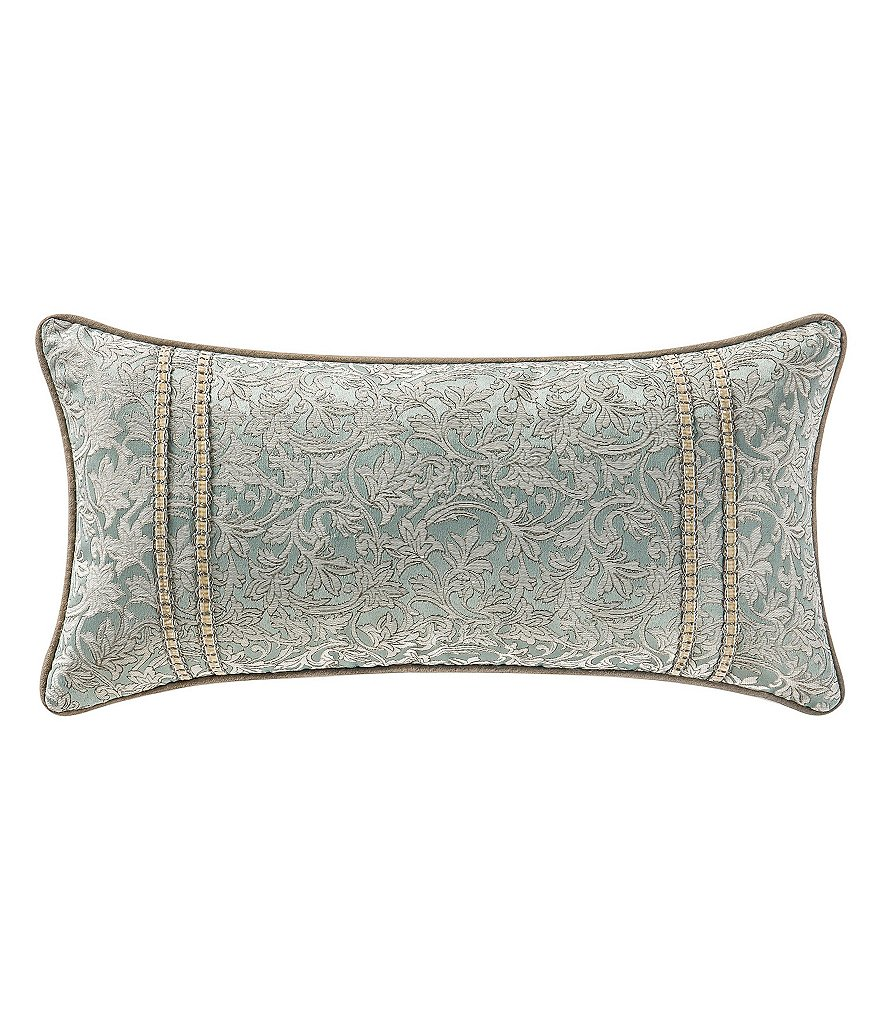 Waterford Mercer Suede-Trimmed Leaf Vine Boudoir Pillow