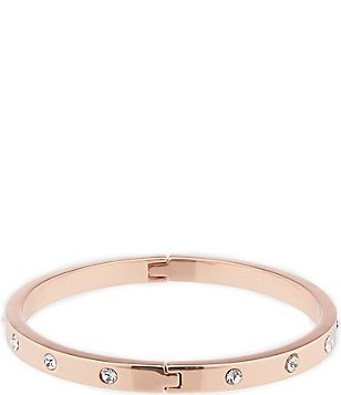kate spade new york Set in Stone Hinged Gold-Plated Bangle Bracelet