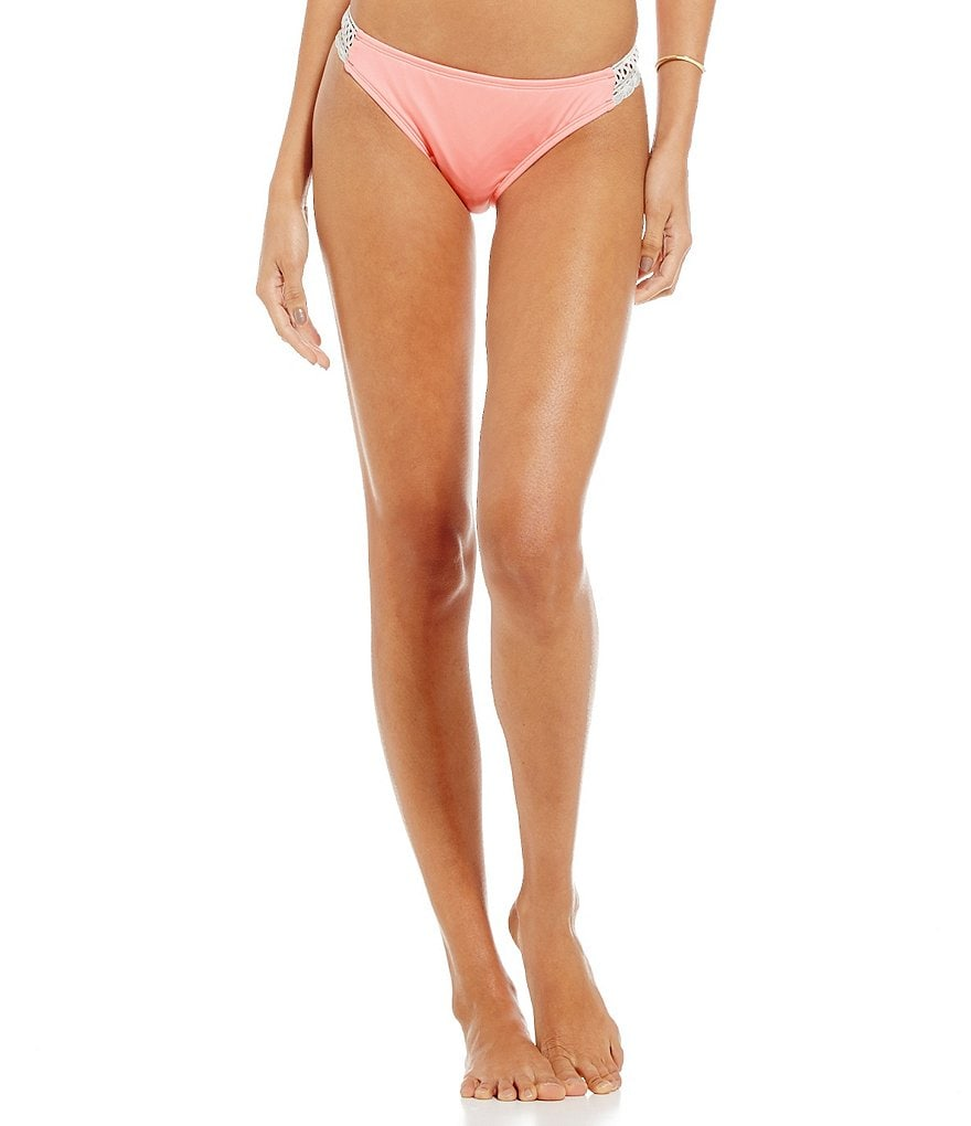Cremieux Solid Crochet Side Bottom