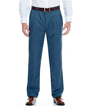 Daniel Cremieux Signature Classic-Fit Pleat Front Microfiber Checked Pants