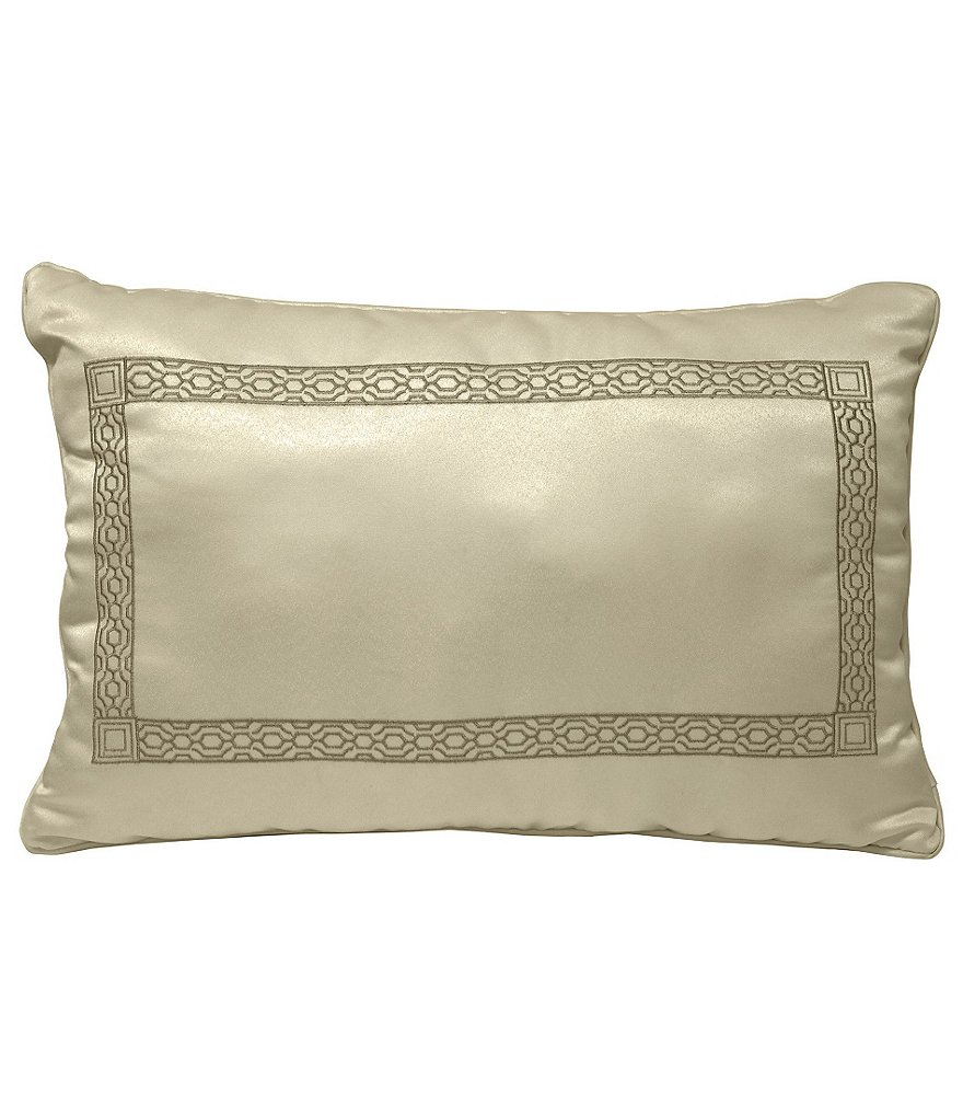 Veratex Piazza Geometric Frame-Embroidered Boudoir Pillow