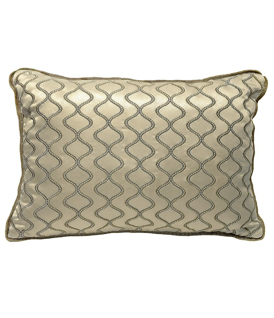 Veratex Piazza Ogee-Embroided Boudoir Pillow