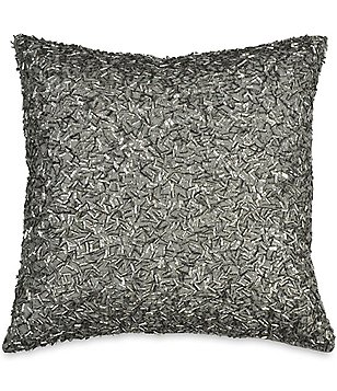 Donna Karan Exhale Metallic Beaded Square Pillow