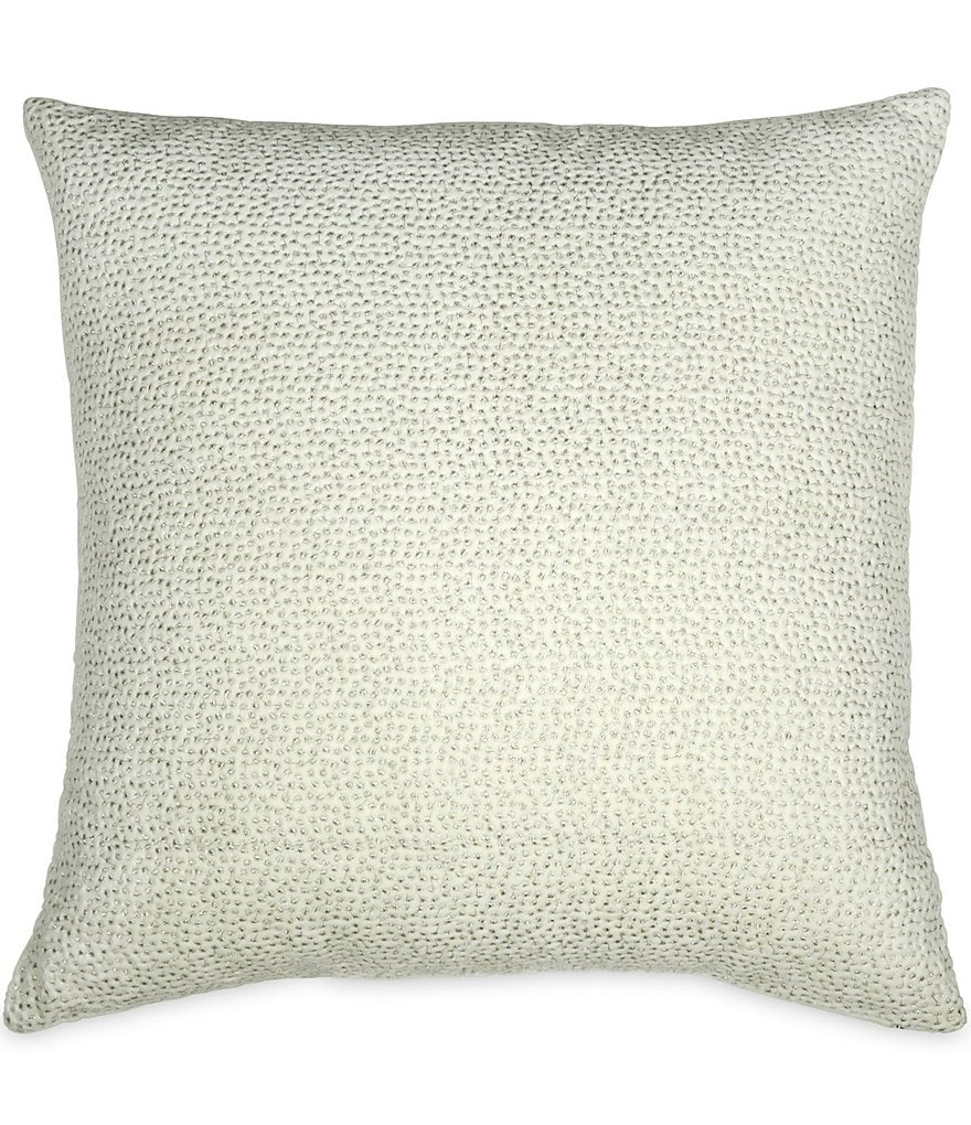 Donna Karan Exhale Embroidered Velvet Square Pillow